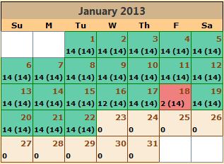 Calendar example image